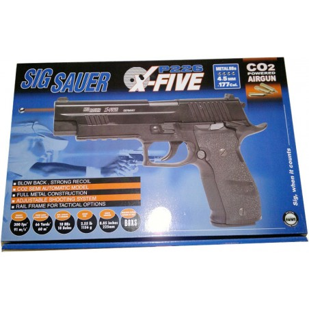 sig sauer p226 x-five co2 4.5 metal blow back 21rd