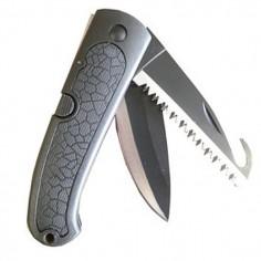 Couteau pliant noir 2 lames 270mm