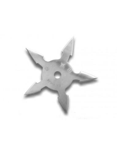 Couteau étoile ninja 5 branches + housse