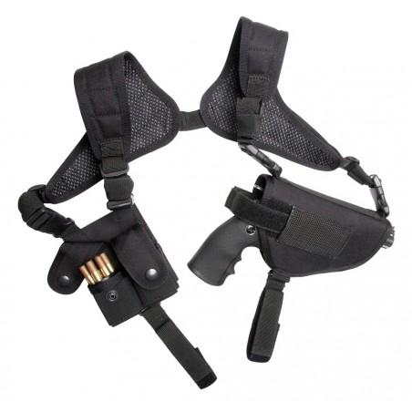 Holster d'epaule revolver noir porte douille