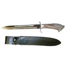 Couteau De Chasse + étui Cuir