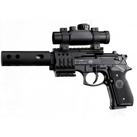 Beretta XXtreme noir lunette+rail+ silencieux (livré en malette) CO2 4,5mm.