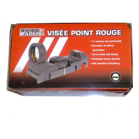 Visée point rouge Swiss Arms luminosité reglable