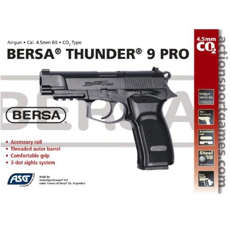 Bersa Thunder 9 PRO GNB CO2 4,5 mm billes acier