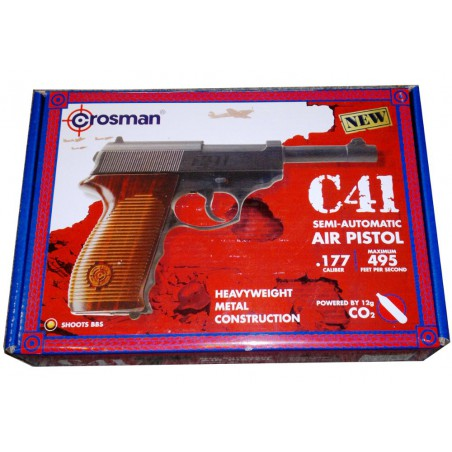 P38 full metal C41 Crosman GNB CO2 4,5 mm billes acier