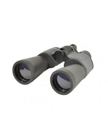 Jumelles 12X50 Noir et gris traitement lentilles Bleues