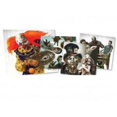Cibles 22,8 X 24,7 cm Papier Zombie par 20 pieces