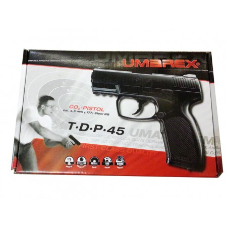T.D.P 45 CO2 4,5 mm Umarex Blowback billes acier 2,7 joules