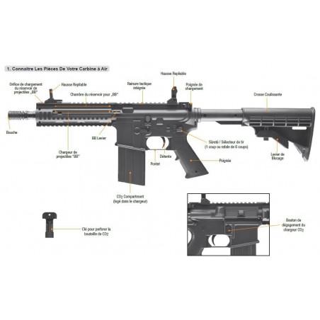 M15 CQB Steel Force CO2 4,5 mm Umarex billes acier