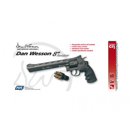 Dan Wesson noir 8'' GNB 3j CO2 4,5mm