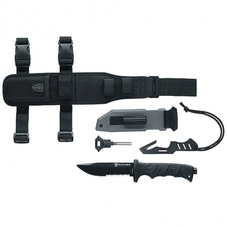 Couteau Elite Force EF 703 Acier 440 et accessoires