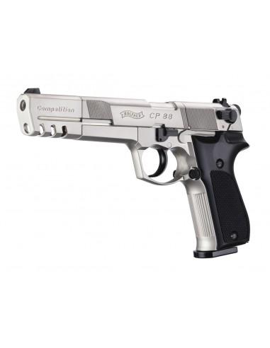 CP88 Walther Competition Nickelé 4,5 mm plomb (livré en malette)