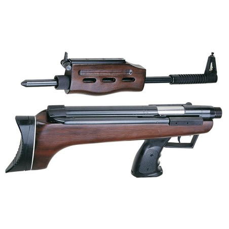 Carabine QB7 deluxe demontable + lunette + mallette 4,5 mm plomb