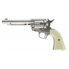 Colt Pacificateur Simple Action Acier Nickelé CO2 4,5mm