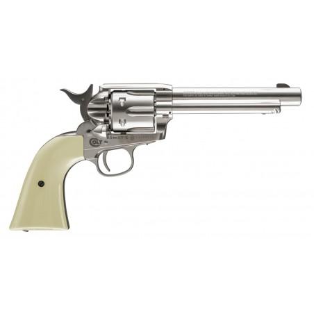 Colt Pacificateur Simple Action Acier Nickelé CO2 4,5mm