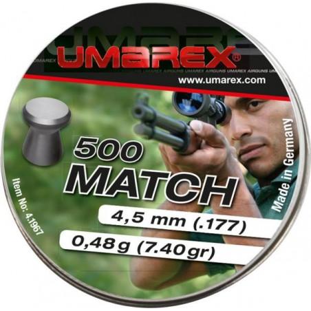Plomb Match Umarex 4,5 mm 500 pieces