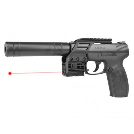 T.D.P 45 Tactical CO2 4,5 mm billes acier avec laser et silencieux