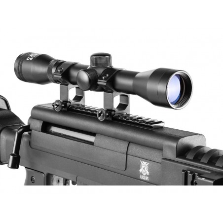 Carabine Black Ops Sniper Scope 4X32 Bipied Silencieux plomb 4,5 mm 20 J