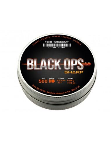 Plombs Pointus Double Jupe Black Ops boite de 500 pces