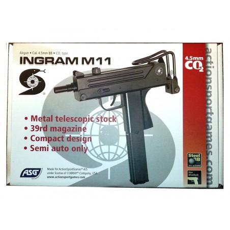 Ingram Cobray M11 CO2 4,5 mm billes acier 3,2 joules