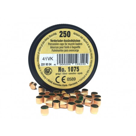 Boite de 250 Amorces Cannelées RWS Poudre Noire