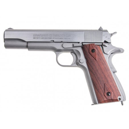 P1911 Stainless Swiss Arms full metal Blowback CO2 4,5mm