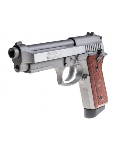 P 92 Stainless Swiss Arms Full Metal Blowback CO2 4,5mm