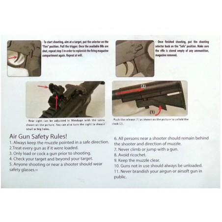 M4 CA45 Carbine Semi Auto CO2 4,5 mm billes acier