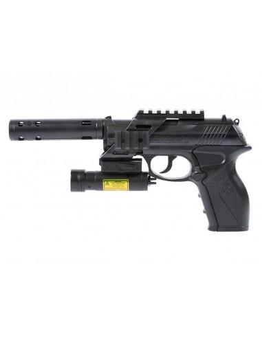 C11 KT2 Tactical Crosman pistol 4,5mm avec laser et silencieux