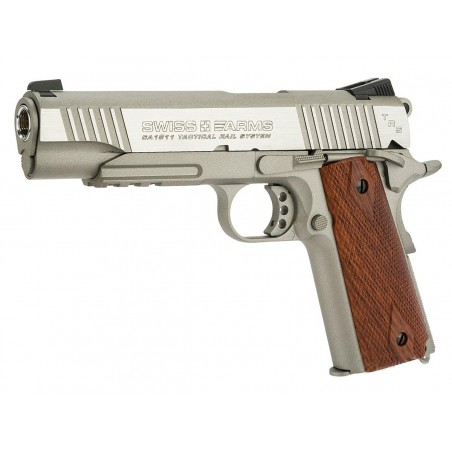 P1911 Rail Gun Stainless Swiss Arms full metal Blowback CO2 4,5mm