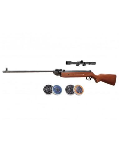 Pack Carabine SMK B2-1 à air comprimé 17 J + lunette 4x20 + 2 Btes de 500 Plombs