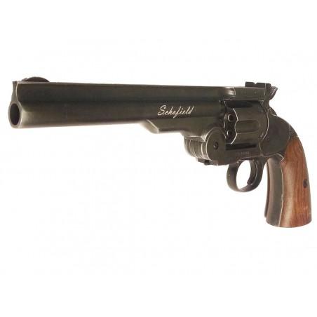 Schofield 6'' Black Wooden Grip 4,5j CO2 4,5mm Plomb