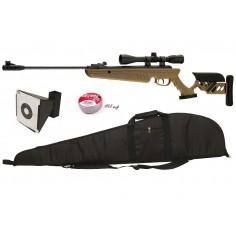 Pack Carabine TG1 Swiss Arms avec Lunette Housse Cible et plomb 4,5 mm 20 J