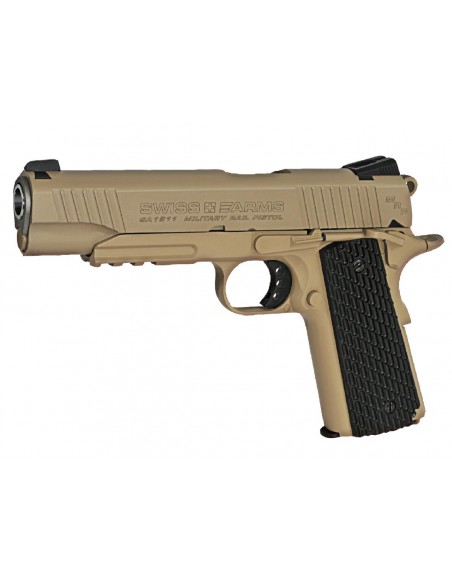 P1911 Military Rail Gun Swiss Arms full metal Blowback CO2 4,5mm