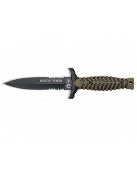 Couteau de Botte K25 Titanium Coated Double Tranchant