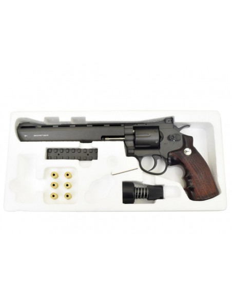 Revolver Borner 8'' Super Sport 703 CO2 4,5mm 3,5 J