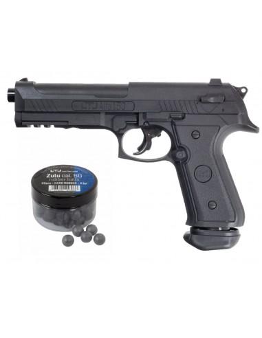 Pistolet Defense 18 Joules LTL Alfa 1.50 Balles Caoutchouc Cal 50
